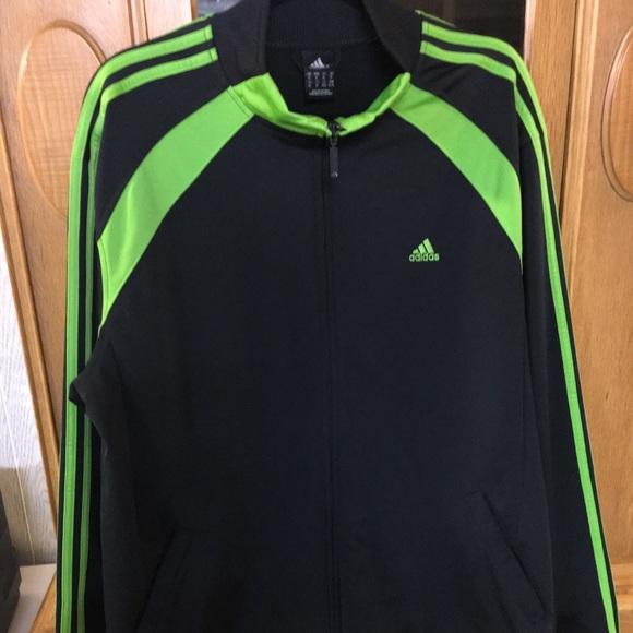 90aba2b74b8f adidas Other - Mens Adidas XL Zip-up Jacket. Black   Neon Green.